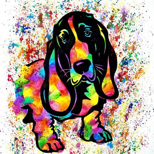 Basset Hound Canvas Painting