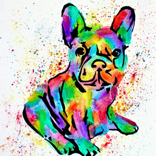 Frenchie Canvas Painting